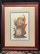Christmas Cross-stitch Embroidery Hummel Style Wall Hanging/art/picture