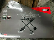 Weber Q Gas Grill Stand Mount 6557 Rolling Cart Portable Wheels Bbq Outdoor Cook