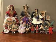 Vintage Dolls Of The World Collectible And Antique 13 Doll Set