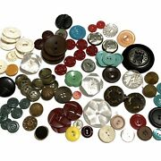 150 Vintage Buttons - Bakelite Metal Plastic Lucite Mother Of Pearl