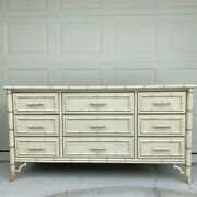 Sold Dixie Aloha 9 Drawer Dresser - Vintage Faux Bamboo Fretwork