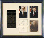 George Herbert Walker Bush - Collection With Co-signers
