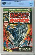Ghost Rider 1 Cbcs 8.0 Vf White Pgs 9/73 1st App. Of The Son Of Satan Dai