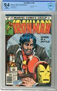 Iron Man  128 Cbcs 9.4 Nm White Pgs 11/79 Alcoholism Story Continues. Cl