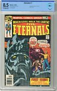 Eternals 1 Cbcs 8.5 Vf+ Off White/wht Pgs 7/76 1stapp. And Origin Of The