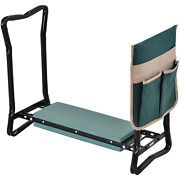 Outsunny Garden Kneeler Seat Stool Bench Kneeling Pad And 1 Large Side Tool Pouc