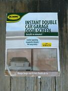 Instant Double Garage Screen Door Black 16and039 W X 7and039 H Ideaworks Ret4869