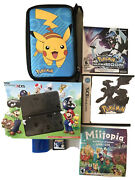 Bundle Of Nintendo 3ds Super Mario Black Edition With 4 Games And Pokemon Case