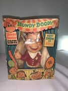 Vintage 1950s Howdy Doody Circus Howdy Doody Toy With Original Box Squeeze Toy