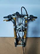 07-08 Yamaha Yzf R1 Front End Forks Tubes Handle Bar Controls Trees Calipers Oem