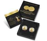 2021 American Eagle One-tenth Ounce Gold Two-coin Set Designer Edition Unopened