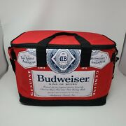 Budweiser Soft Cooler With Bottle Opener Keychain Red 17 X 10 X 11
