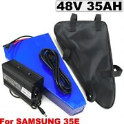 Lithium Ion Li-ion Battery 48v 35ah Rechargeable Electric E Bike Bicycle Scooter