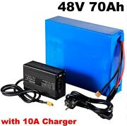 Lithium Ion Li-ion Battery 48v 70ah Rechargeable Electric E Golf Cart Motorcycle