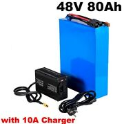 Lithium Ion Li-ion Battery 48v 80ah Rechargeable Electric E Golf Cart Motorcycle