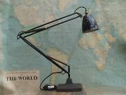 Rare Vintage Old 1208 Anglepoise Table Lamp Light Rewired In Gwo