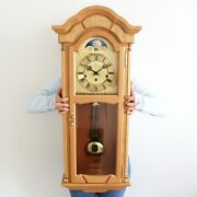 Hermle Ams Wall Clock Xxl Moonphase And Westminster Chime Classic Design Germany