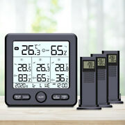 4pack Weather Station Digital Thermometer Hygrometer Indoor Outdoor Temperature