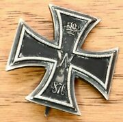Rare Antique Imperial German Prussian 1870 Iron Cross W/name
