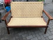 Hans Wegner Style 2 Wood Folding Chairs And 1 Folding Bench