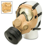 Real Polish Military Surplus Gas Mask Filter Mp-5 Goggles Full Face Canister Tan