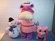 Disney Doc Mcstuffins 15 Talking Hallie / Chilly And Whiskers Plush Lot Of 3 Vgc