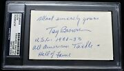 Tay Brown Signed - Autographed 3x5 Inch Index Card Usc - Died 1994 + Psa/dna Coa