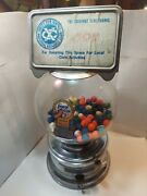 Vintage Ford Gumball Machine One Cent With Topper And Lock And Key