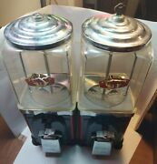 Vintage Double Victor Topper One Cent Gumball Machine With Key