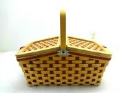 2006 Beautiful Longaberger Large Rare Red Picnic Basket W/protector And Divider