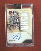 2020 Topps Luminaries Home Run Kings Relics /15 Mike Trout Hrkar-mt Autographed