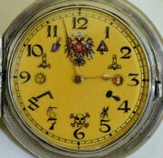 Rare Antique Imperial Russian Masonic Silver Hunter Pateck Geneve Pocket Watch