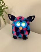 Hasbro Furby Boom Triangles Black Pink Turquoise Talking Interactive Tested