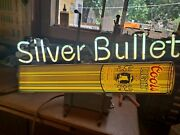 Coors Light Beer The Silver Bullet Lighted Bar Sign Large Vintage Rare