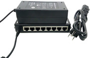Icreatin 8-port Passive Power Over Ethernet Poe+ Injector Adapter With 48v 65w 8