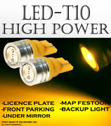 X2 Pairs T10 Super Yellow Led High Power License Plates Plug And Play Lights T55