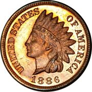 1886 1c Variety-2 Indian Head Cent Proof Rb K13300