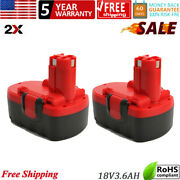 2pack 18v 3.6ah Ni-mh Bat181 Replacement Battery Compatible For Bosch 2607335270