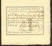 Connecticut Revolutionary War - Promissory Note Signed 03/10/1784