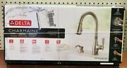 New - Delta Charmaine 19962z-sssd-dst Pull-down Kitchen Faucet - Stainless