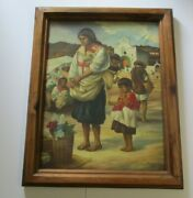 Large Parra Painting Mexico South American Indian South American Church Mission