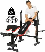 Adjustable Weight Bench With Squat Rack Full Body Workout Weight Benches Lot