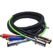 Electrical Air Hose Assembly For Tractor Trailers 3 In 1 Air And Power Line 15ft