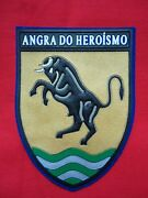 Portugal Portuguese Psp Angra Heroismo Azores Bull Patch 106mm