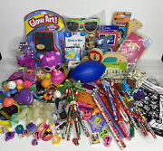 Junk Drawer Toy Lot - 120 Items Assorted Novelty Toys Puzzles Games And More