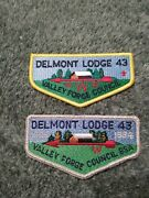 Bsa Order Of The Arrow Delmont Lodge 43 Flaps Patches