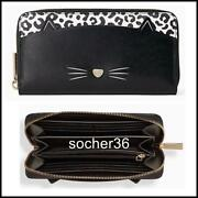 Kate Spade Meow Cat Large Continental Wallet Wlr00593 Nwt 239