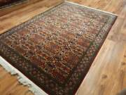Vintage Large 6x9ft Red Boho Oushak Traditional Oriental Turkish Hand-woven Rug