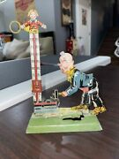 1925 George Levy Strength Tester Very Rare Tin Penny Toy