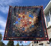 King Size Quilt-one Block Wonder - Light In The Abyss